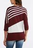 Plus Size Diagonal Stripe Tunic Sweater alternate view