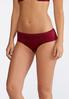 Plus Size Textured Sateen Solid Panty Set alternate view