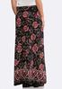Plus Size Floral Puff Print Maxi Skirt alternate view