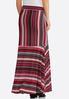 Plus Size Pink Mixed Stripe Maxi Skirt alternate view