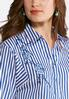Floral Embroidered Striped Popover Shirt alternate view