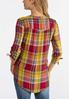 Golden Plaid Pullover Top alternate view