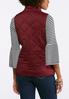 Quilted Wine Puffer Vest alternate view
