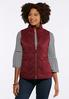 Plus Size Quilted Wine Puffer Vest alternate view