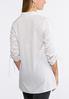 Plus Size Scrunch Sleeve Poplin Shirt alternate view