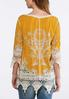 Plus Size Crochet Embroidered Tunic alternate view