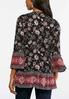 Plus Size Floral Bell Sleeve Poet Top alternate view