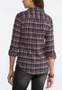 Plus Size Pink Plaid Flannel Shirt alternate view