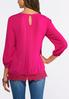Plus Size Crepe Lace Hem Top alternate view