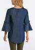 Plus Size Chambray Poet Top alternate view
