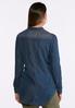 Plus Size Dark Wash Chambray Shirt alternate view