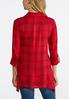 Plus Size Red Plaid Pullover Shirt alternate view