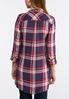 Plus Size Wine Plaid Tunic alternate view