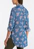 Plus Size Chambray Floral Tunic alternate view