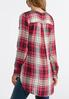Plus Size Pink Plaid High- Low Tunic alternate view