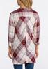 Plus Size Pearl Embellished Plaid Shirt alternate view