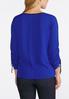 Plus Size Bright Blue Tie Sleeve Top alternate view