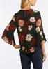 Plus Size Embellished Wine Floral Top alternate view