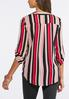 Plus Size Pink Striped Pullover Tunic alternate view