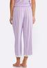 Lace Hem Striped Sleep Pants alternate view