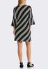 Contrast Stripe Bell Sleeve Dress alternate view