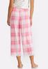 Lace Trim Plaid Sleep Pants alternate view