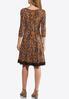 Plus Size Seamed Lace Trim Dress alternate view