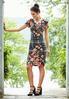 Floral Plaid Hacci Midi Dress alternate view