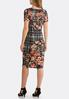 Plus Size Floral Plaid Hacci Midi Dress alternate view