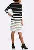 Plus Size Contrast Stripe Sweater Dress alternate view