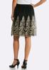 Plus Size Gold Embroidered Mesh Skirt alternate view