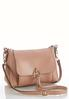 Faux Leather Front Pocket Handbag alternate view