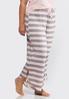 Plus Size Striped Sleep Pants alternate view