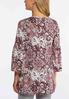 Plus Size Lacy Floral Bell Sleeve Top alternate view