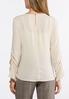 Plus Size Embellished Ruched Sleeve Top alternate view