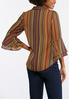 Plus Size Autumnal Bell Sleeve Shirt alternate view