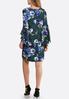 Split Bell Sleeve Floral Dot Dress alternate view