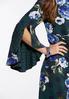 Plus Size Split Bell Sleeve Floral Dot Dress alternate view