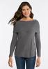 Gray Cowl Neck Sweater alternate view