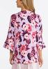 Plus Size Floral Kimono Sleeve Robe alternate view