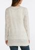 Cable Stitch Speckled Tunic Sweater alternate view