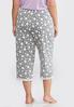 Plus Size Lace Trim Dotted Sleep Pants alternate view