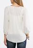 Plus Size Ring Embellished Pullover Top alternate view