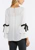 Plus Size Tiered Tie Sleeve Top alternate view