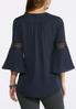 Plus Size Solid Layered Hem Top alternate view
