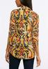 Plus Size Two In One Puff Print Top alternate view