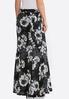 Plus Size Floral Hacci Mermaid Skirt alternate view