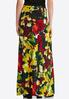 Plus Size Garden Floral Maxi Skirt alternate view