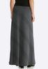 Plus Size Diagonal Ribbed Knit Maxi Skirt alternate view