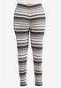Plus Size Chevron Hint Of Pink Leggings alternate view